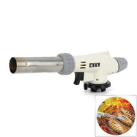 FREE SHIPPING Multi-Function Adjustable Auto Ignition Gas Butane Brazing Torch - White + Grey (1500'C)