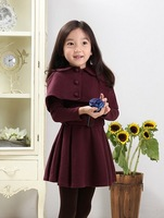 Free shipping 2014 new children's casual wear big girl dress suit jacket coat dress Spring fashion modelsSpring jackets winter