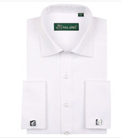Hotsell,men's fashion cotton shirt with cufflink  wholesale and retail  Free shipping