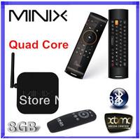 MINIX neo x7 mini RK3188 Quad Core Android 4.2.2 1.6GHz Mini PC TV BOX 2GB RAM 8GB Bluetooth Remote Control +Mele F10 air mouse