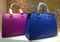 2013 new brand designer popular multi color totes bags solid original leather ladies handbags NO.9823