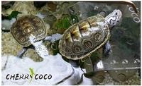Aquarium decoration The tortoise roof terrace turtle floating island aquarium accessories ,Free shipping-T01