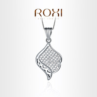 ROXI  Exquisite Unusual shape necklace platinum plated with CZ diamonds,fashion Environmental Micro-Inserted Jewelry,103010462