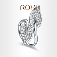 ROXI  Exquisite  leaves Rings platinum plated with AAA zircon,fashion Environmental Micro-Inserted Jewelry,101004726