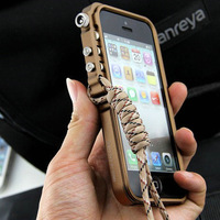Free shipping Super Mechanical Arm Aluminum Defender Bumper Cover Case For Apple iPhone 4 4S