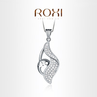 ROXI Exquisite blisters necklace platinum plated with AAA zircon,fashion Environmental Micro-Inserted Jewelry,103019606