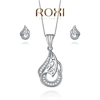 ROXI bridal jewelry Set platinum plated with AAA zircon,Gold-plated three times,FREE SHIPPING,Micro-Inserted Jewelry,107009888