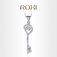 ROXI Exquisite Type  Key necklace platinum plated with AAA zircon,fashion Environmental Micro-Inserted Jewelry,103004540
