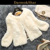 2014 new winter women fur rex rabbit hair fur coat short design rex rabbit skin fur coat Y2P2