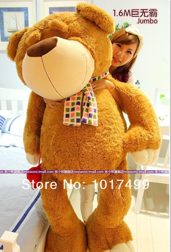 Free shipping Teddy Bear plush teddy bear oversized doll 100CM big bear hug pillow gift(China (Mainland))