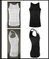 100pcs/lot ZEROBODY MEN'S SLIMMING TUMMY WAIST SHIRT VEST BODY SHAPE SHAPER GIRDLE T-SHIRT