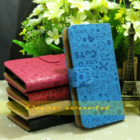 1 pcs New  flip leather case cover for Samsung Galaxy S3 Mini i8190