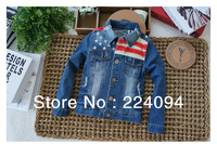 Free shipping 2013  fashion kid's Jacket  children's outerwear ,kids coat 3-10yearold