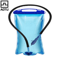 NEW  2L Food Grade PEVA Wide mouth outdoor sports water bag with straw portable drinking Water Pouch