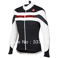 10 styles Hot sell! 2013 Castelli Thermal Fleece Cycling Long Sleeve Cycling Jersey / cycling clothing/ ciclismomontonFly