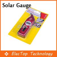 Free shipping Solar Power Digital LCD Air Pressure Tire Tyre Gauge 50pcs/lot Wholesale