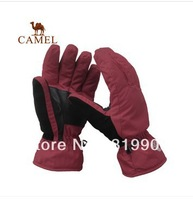 Free shiping Camel outdoor gloves cold thermal gloves male cut-resistant 2f20083