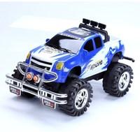 Free Shipping Long 36 boy friction car 4wd toy inertia car blue alloy car models