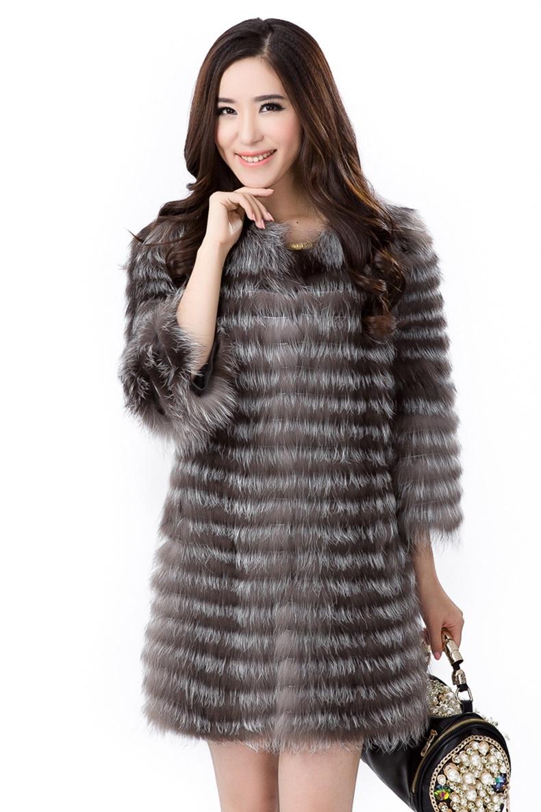 Silver Fox Fur Jacket For Sale | Santa Barbara Institute for