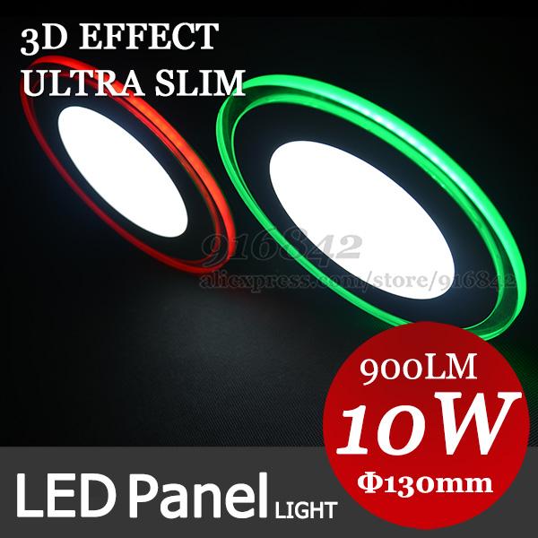 3d-effekt rgb Serie. Rot grün blau orange warmweiß coldwhite edge-led-panel licht, klicken Sie in mehr