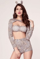 fantasias costumes  4PC Exclusive Pin-up Sexy Cheetah Halloween Costume LC8727 Cheap price Drop Shipping