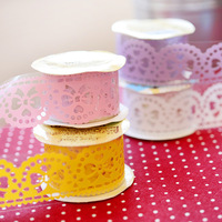 10 sets /lot beautiful floral tape/ diy multifunctional lace tape/ decorative tape /fashion romantic Korea stationery