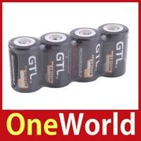 [One World] 4PCS GTL LR123A 16340 Li-ion 3.6V 2000mAh Rechargeable Battery Black Save up to 50%
