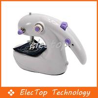 Free Shipping Mini Portable Handheld Desktop Sewing Machine Batteries Operated 36pcs/lot Wholesale