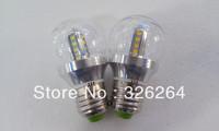 Free shipping LED Bulb light E27 2835SMD 4W Warm white/ White color 85-265V transparent cover