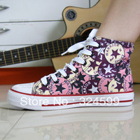 Women shoes,2014 new Genuine high-top canvas shoes women shoes couple Korean star fabric rubber sole casual