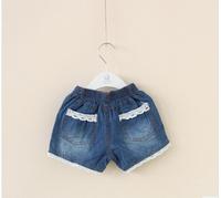 Children's Shorts,child water wash denim tassel denim shorts. 5 pcs/lot