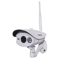 Hot 6mm Lens Plug Play Wireless WiFi 1.0 Megapixel HD Outdoor Weatherproof H.264 IR Cut Night Vision Security Network IP Camera