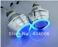 2X4 inch big HID Projector Lens+2 X Angel Eyes+2 X Red Devil Eye Bixenon Hi/Lo Headlight kits 9004 9005 9006 6000K H4 H1 H7