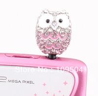 Phone Accessories 3.5mm Owl Dust Plug Charms Owl Anti Dust Plug Cap Findings ZO34