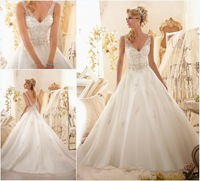 2013 New Beaded Dress For Women Sexy Open Back Long Appliques Court Train Wedding Dresses Free Shipping