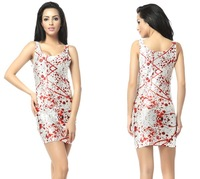 2013 New hot selling Digital Printing Bloodsoaked effect Dress black milk women sexy beach club vest dress sundress
