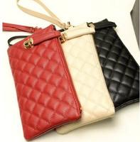 New 2014 women leather handbag wallets women purse clutch bags  femenino cartera  carteira