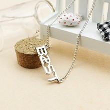 Fashion Jewellry Beast B2ST Team LOGO Silver Letter Pendant Necklace(China (Mainland))
