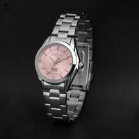 Elegant Pink Dial Women Rhinestone Watches Brand Quartz Women Dress Watch montre femme 021B