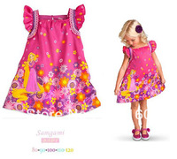 2014 new spring summer models girl dress princess Fly sleeveless  short  Dress it  P30127