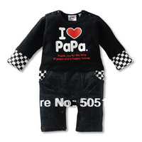 Models fall fashion cute baby Romper Long Love Romper Romper xs 003