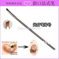 12pcs/lot professional 6# uv gel nail brush Painting Brush Metal Handle