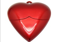 Creative Pendrive U disk Small Red Heart shape pendants USB memory stick 8GB 16GB 32GB 64GB USB flash drive pen drive