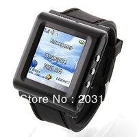 AK912 Watch Phone Silicon Strap 1.3 Inch Touch Screen Single SIM Card Pinhole Camera FM Bluetooth
