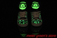 Free Shipping 2013 New Arrival Boys & Girls Jeremy Scott Panda Glow In Dark Shoes JS Glow In Dark Shoes 36-44