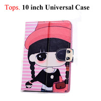 "10 Inch Cute Cartoon Protective Leather Stand Case with Magnetic Closure for 10"" Tablet PC 10 Patterns Girl Student"