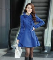 2013 Han edition style in the long black fungus lace cloth coat