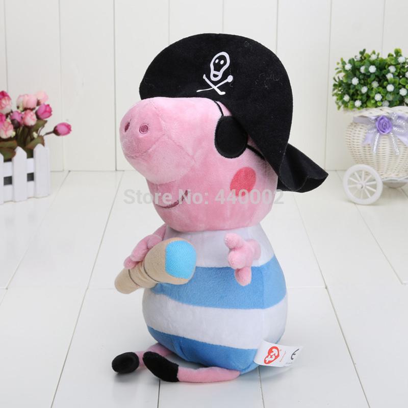 george peppa porco piratas george julgamento boneca pirata brinquedo macio conjuntos 30 cm de altura em tamanho grande(China (Mainland))