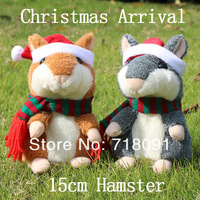 Christmas Arrival,2PCS 5% OFF,Dropshipping,Pet Mouse,Plush Toy Animal,Talking Hamster,1PC,15CM
