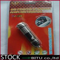 100pcs/lot 12V Mini Auto Car Fresh Air Ionic Purifier Oxygen Bar Ozone Ionizer Cleaner DC2181